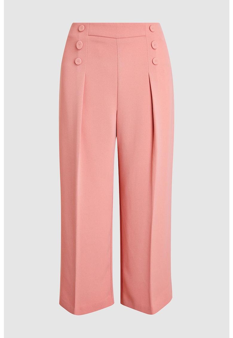 Pantaloni culotte cu pliuri pe partea din fata NEXT