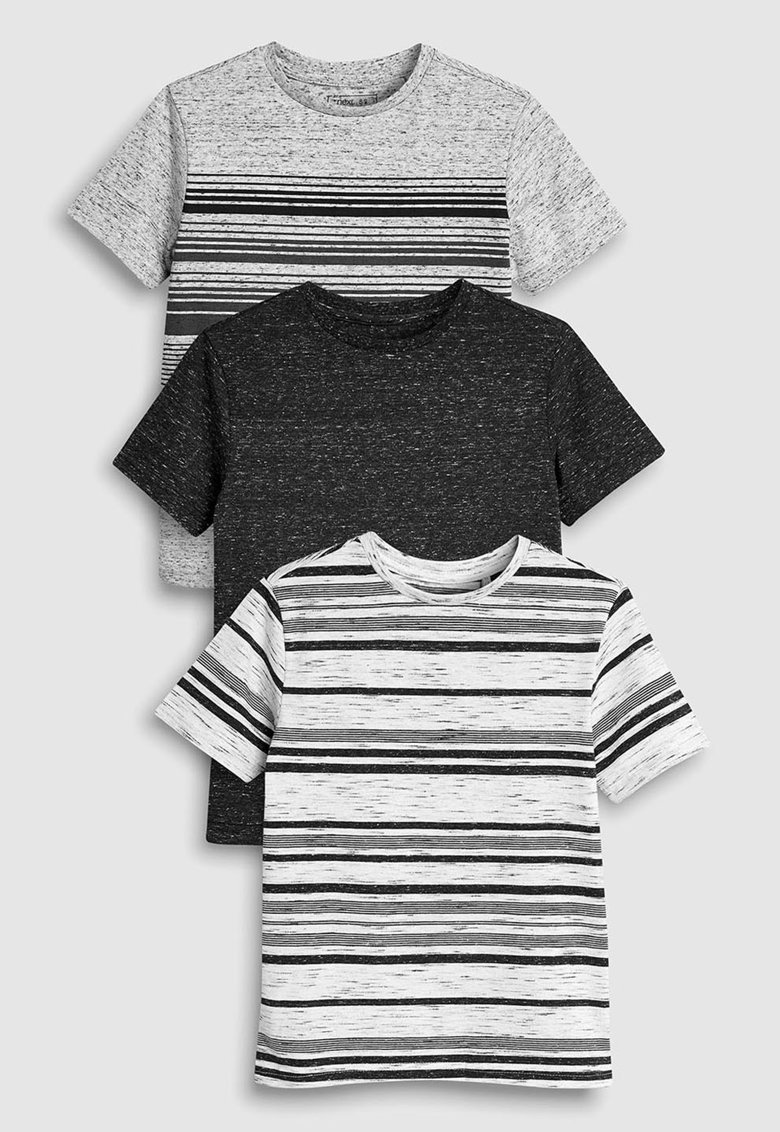Set de tricouri cu decolteu la baza gatului – 3 piese de la NEXT