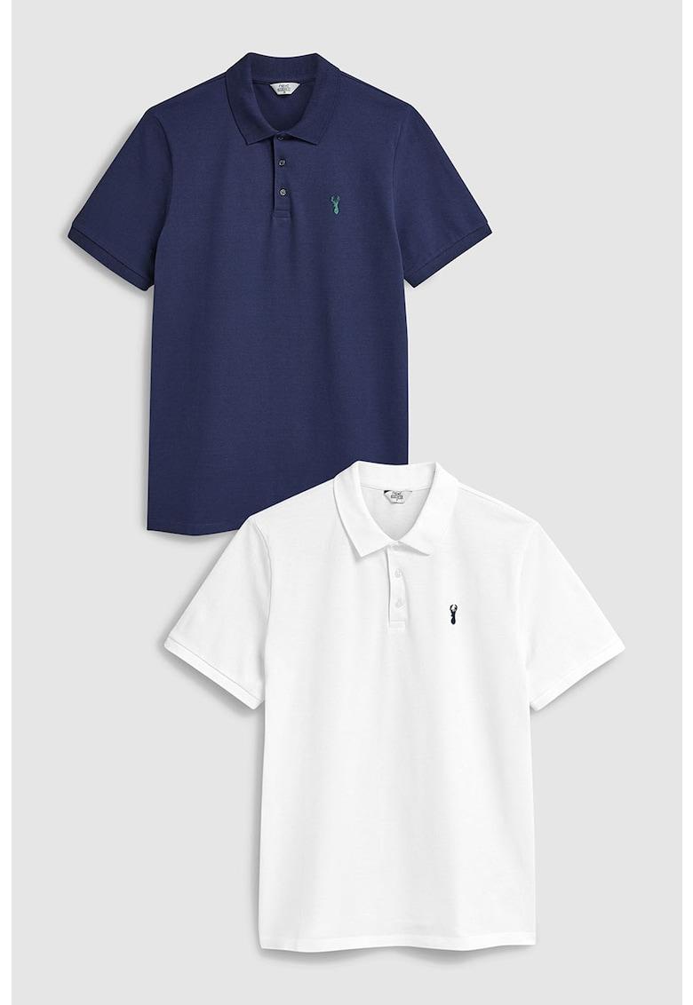 Set de tricouri polo regular fit – 2 piese de la NEXT