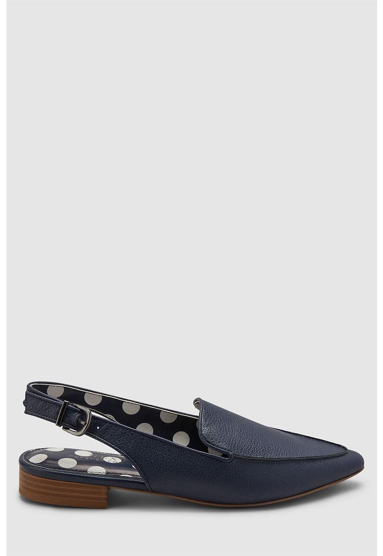 Pantofi loafer slingback de piele ecologica – cu varf ascutit de la NEXT