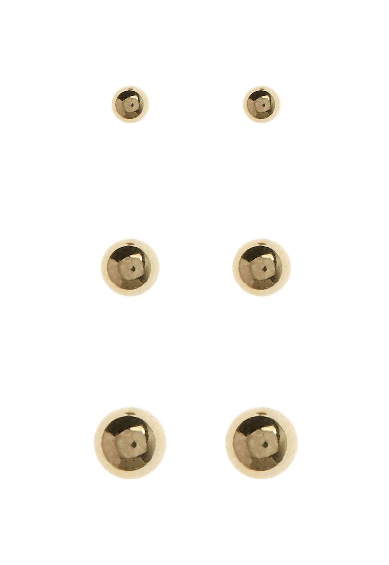 NEXT Set de cercei din argint veritabil placati cu aur 18k – 3 perechi