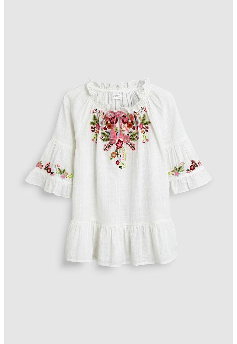 NEXT Bluza cu broderie florala