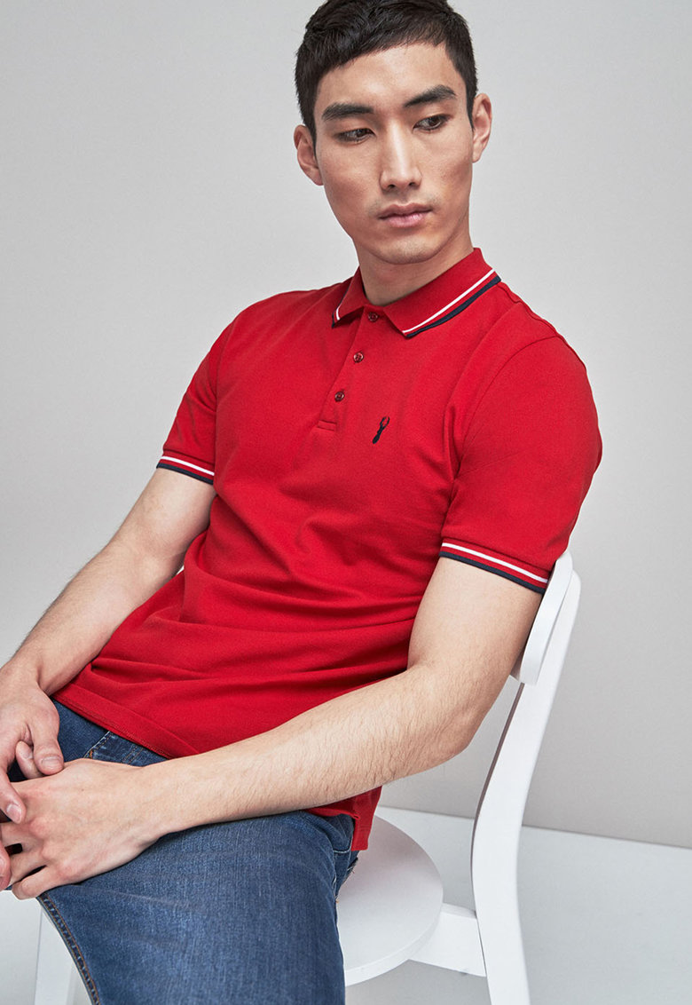 Tricou polo slim fit NEXT