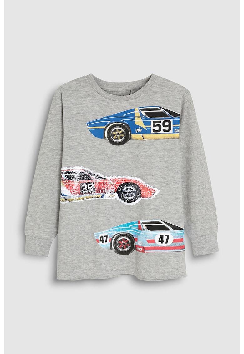Bluza cu imprimeu cu masini