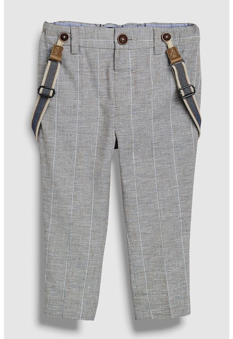 Pantaloni eleganti din amestec de in - cu bretele