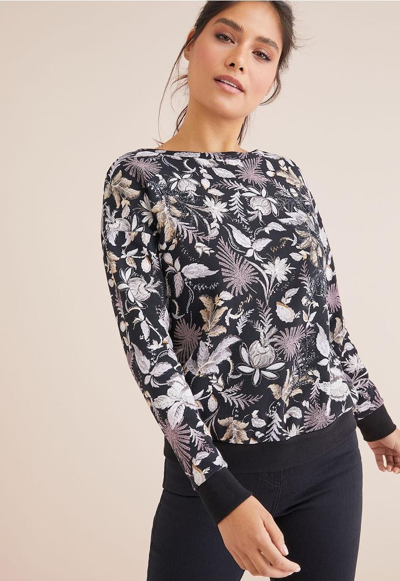 Bluza cu imprimeu floral si decupaj pe partea din spate de la NEXT