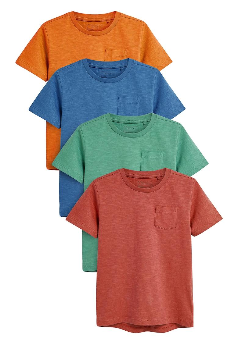Set de tricouri cu buzunar pe piept - 4 piese