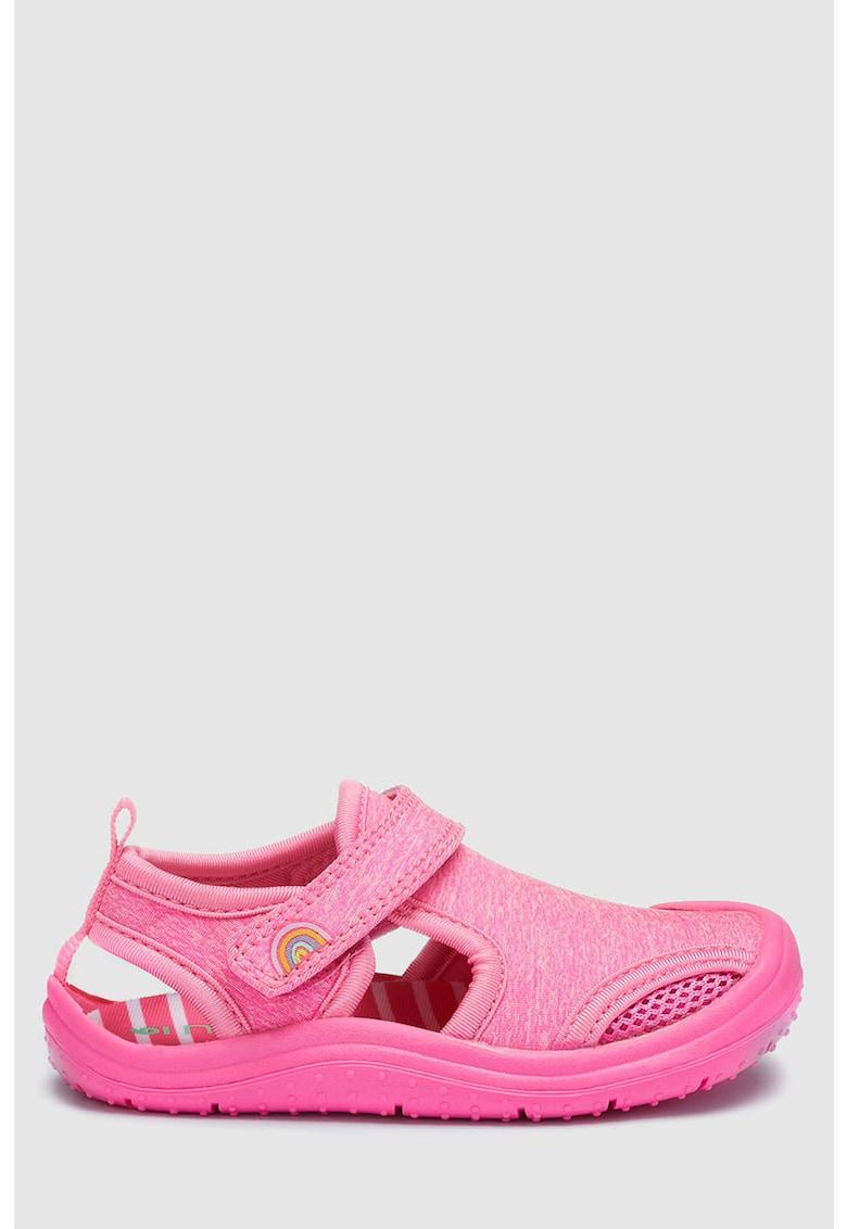 NEXT Sandale cu velcro si insertii de plasa