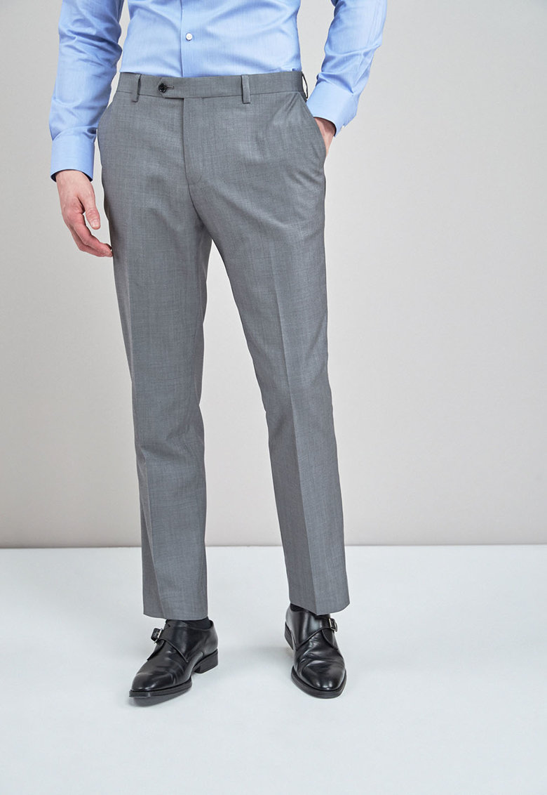 Pantaloni eleganti regular fit de lana NEXT