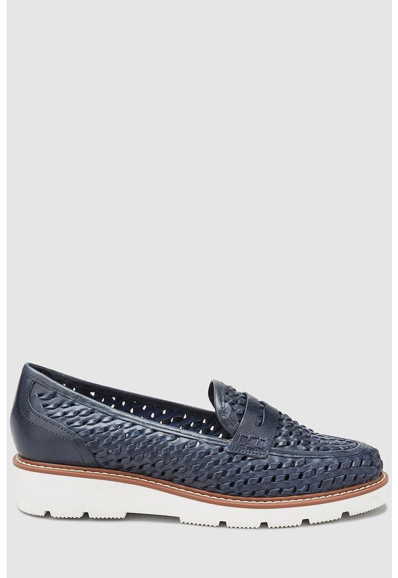 Pantofi loafer de piele cu aspect texturat de la NEXT