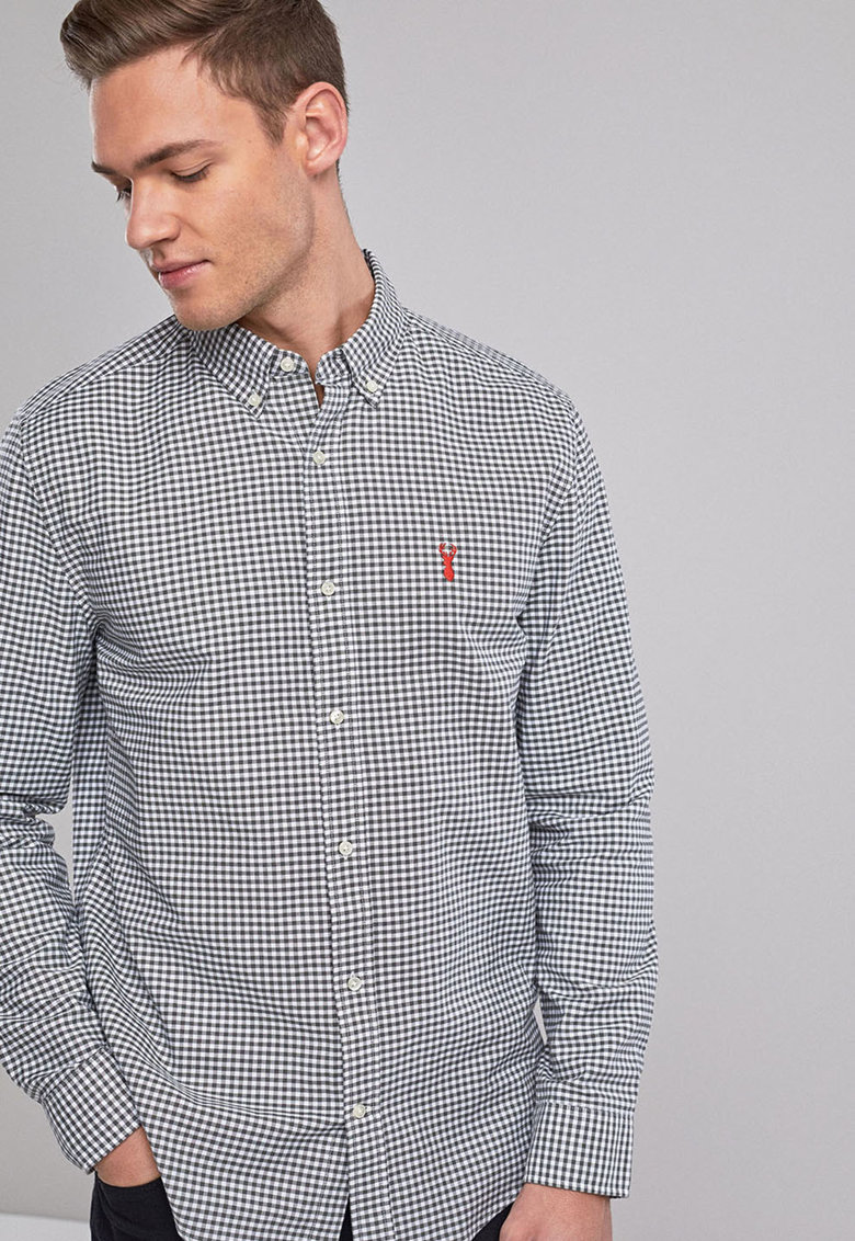 Camasa regular fit cu model gingham de la NEXT