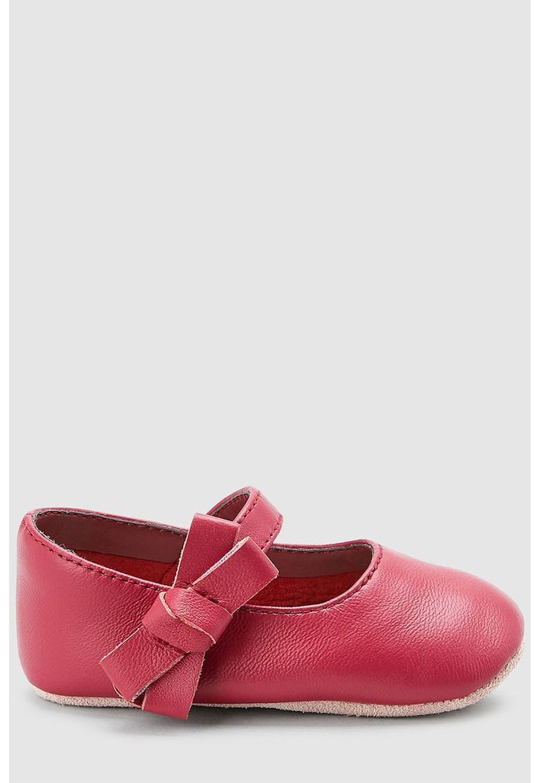 Pantofi Mary-Jane de piele – cu velcro de la NEXT