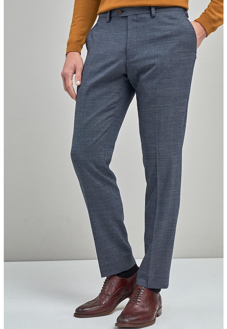 NEXT Pantaloni eleganti slim fit din amestec de lana