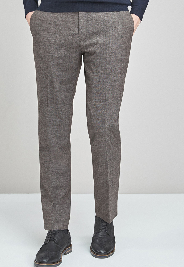 Pantaloni eleganti tailored fit din amestec de lana NEXT