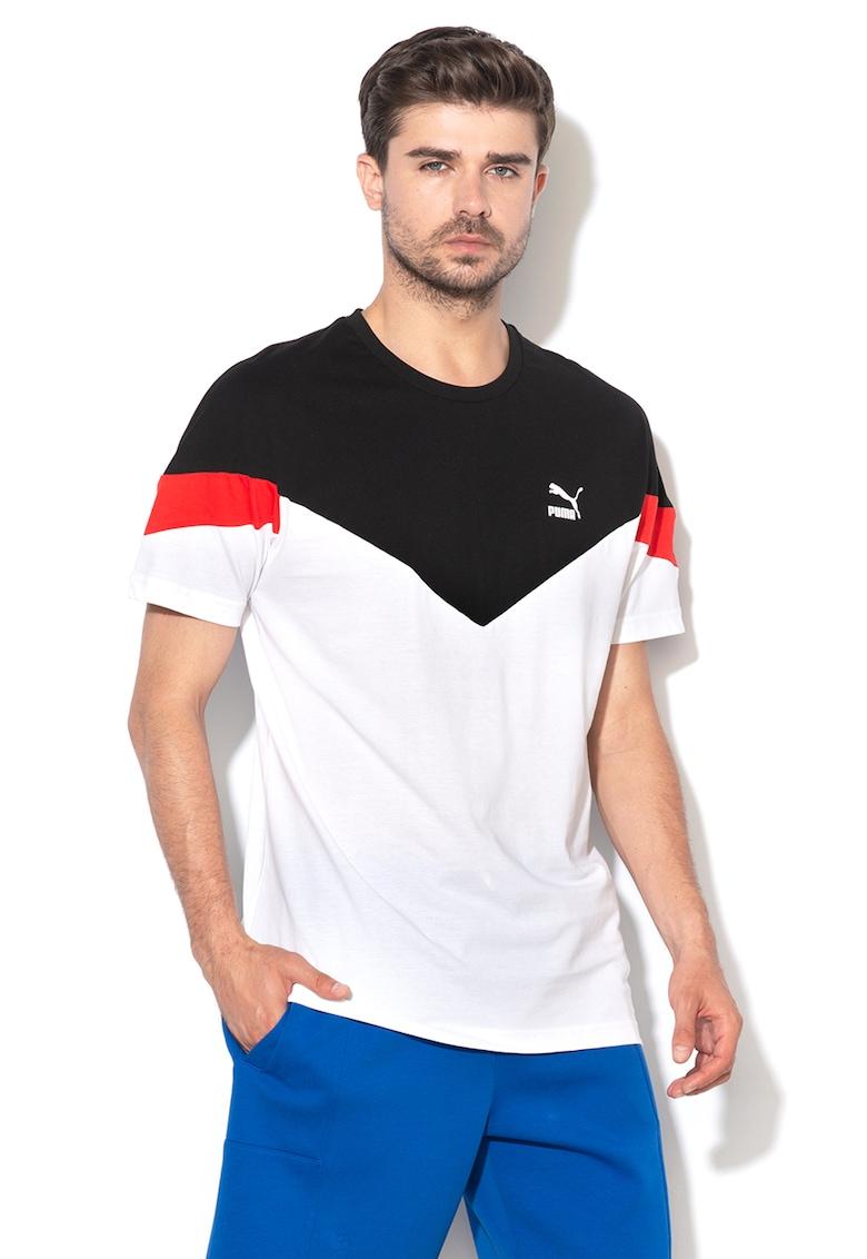 Tricou cu model colorblock - pentru fitness Iconic