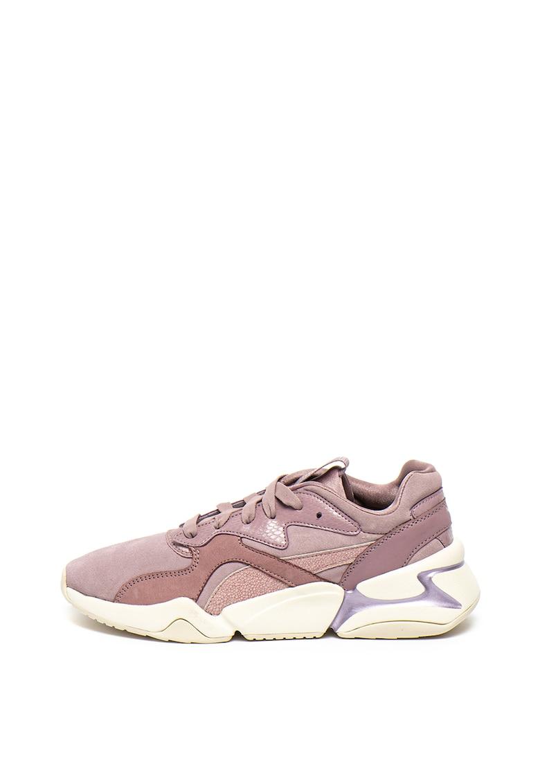 Pantofi sport de piele intoarsa si piele nabuc Nova 1