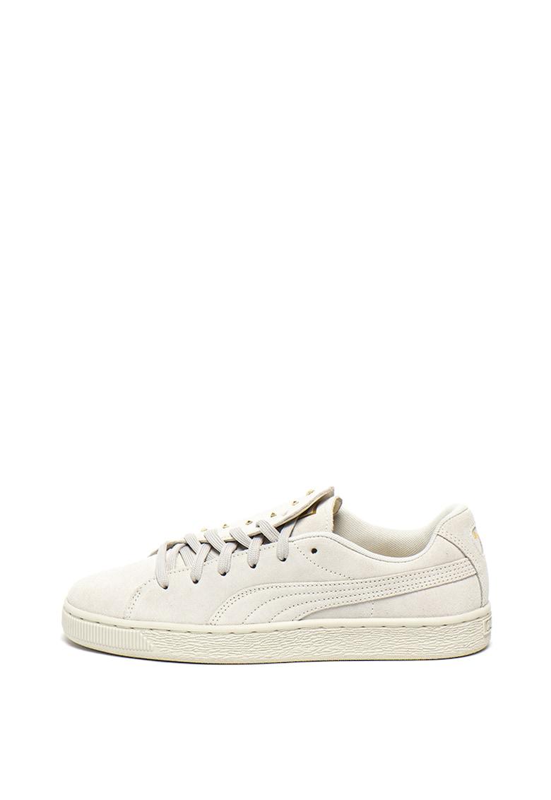 Pantofi sport de piele intoarsa - cu tinte Crush