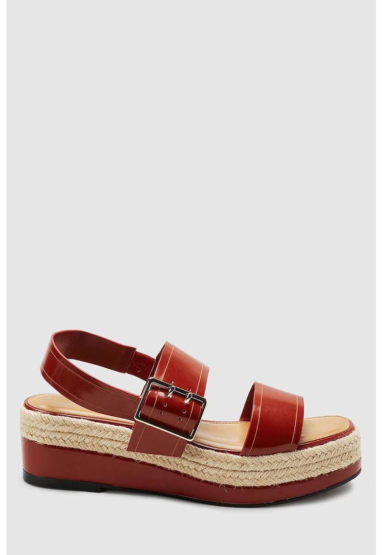 Sandale slingback tip espadrile