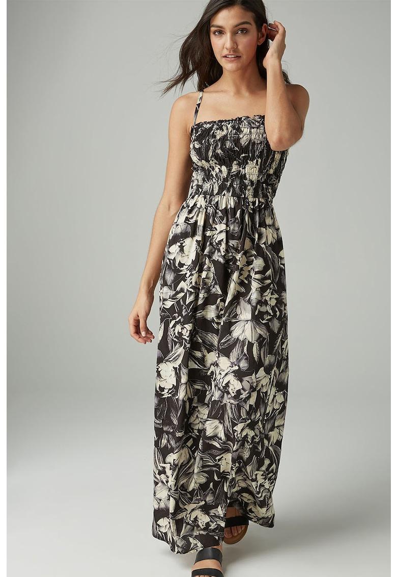 Rochie maxi din modal - cu model floral