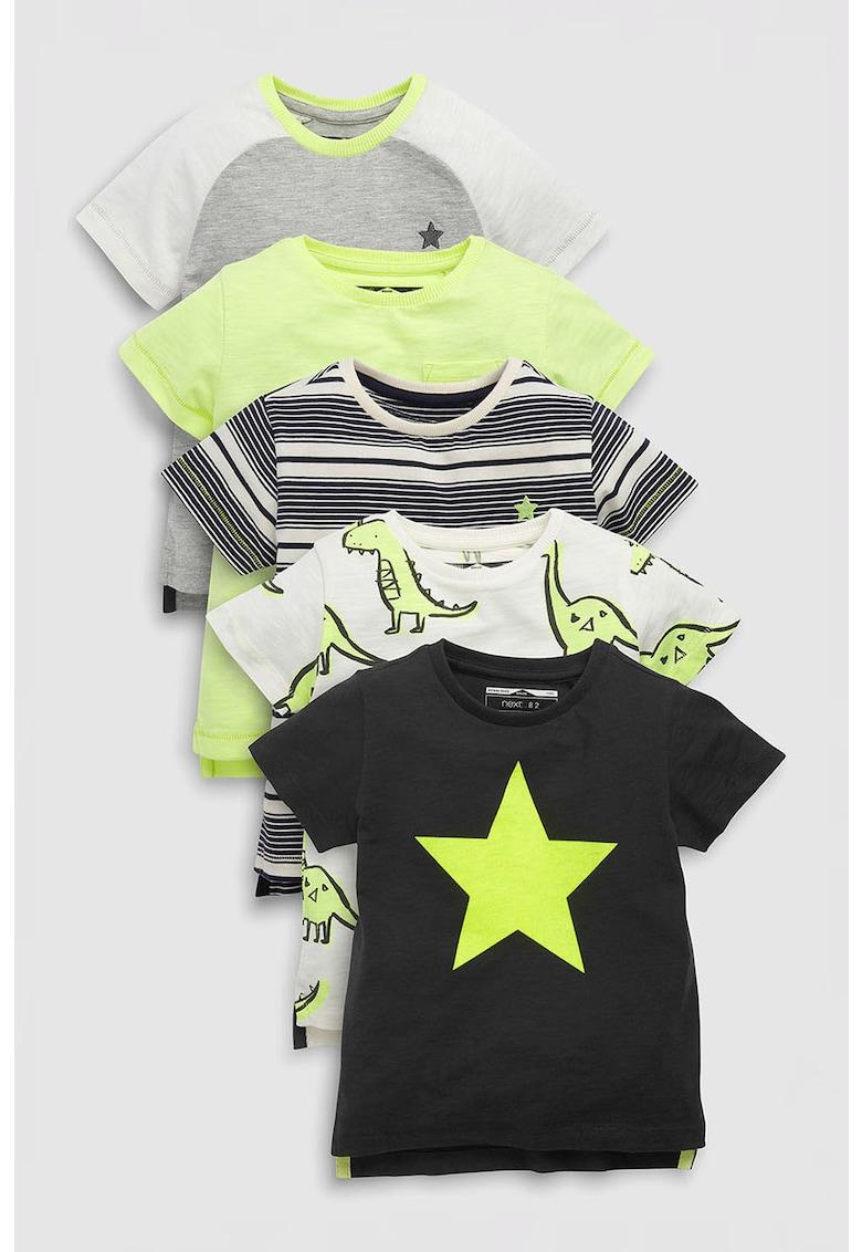 Set de tricouri cu imprimeu – 5 piese NEXT