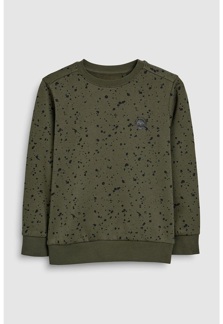 Bluza sport cu imprimeu abstract si grafic