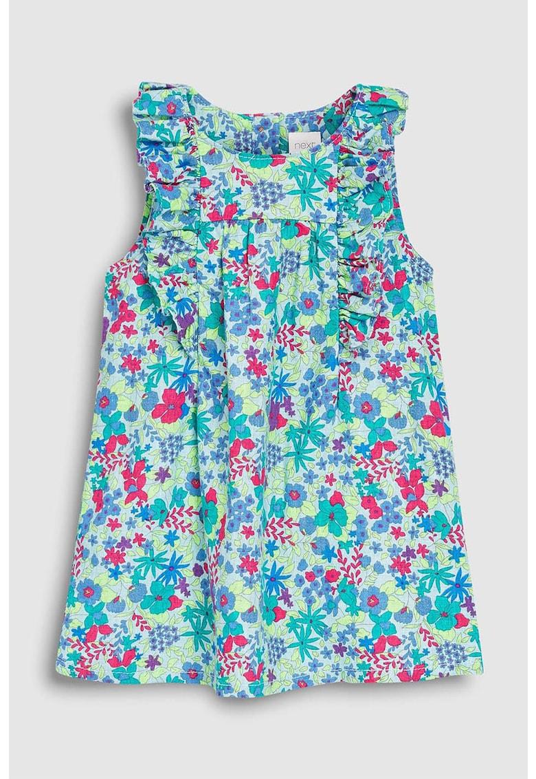 Rochie din amestec de in cu imprimeu floral