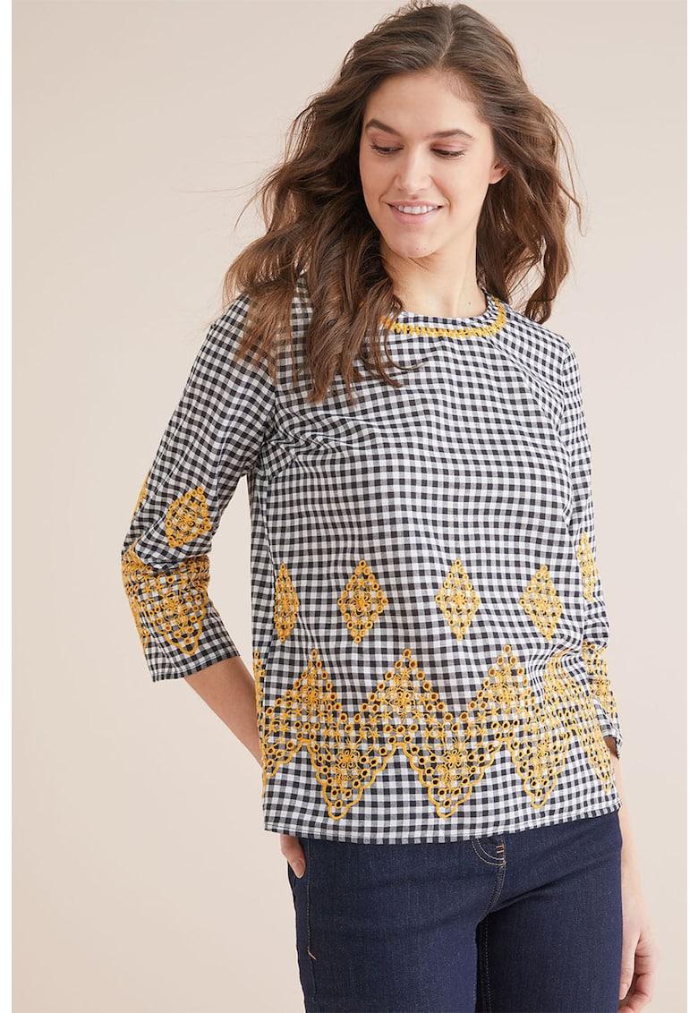NEXT Bluza in carouri cu detalii brodate