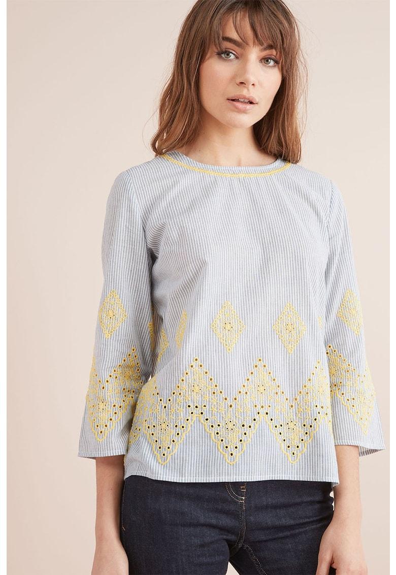 Bluza in dungi cu detalii brodate de la NEXT