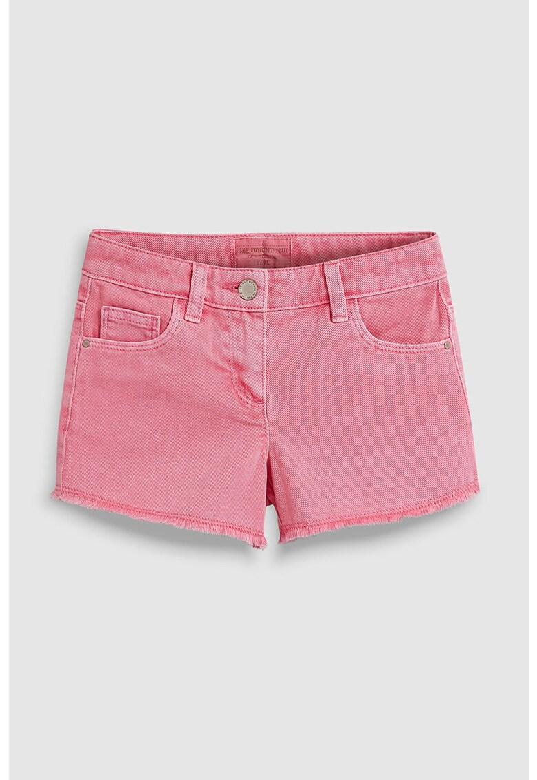 Pantaloni scurti din denim cu terminatie franjurata NEXT