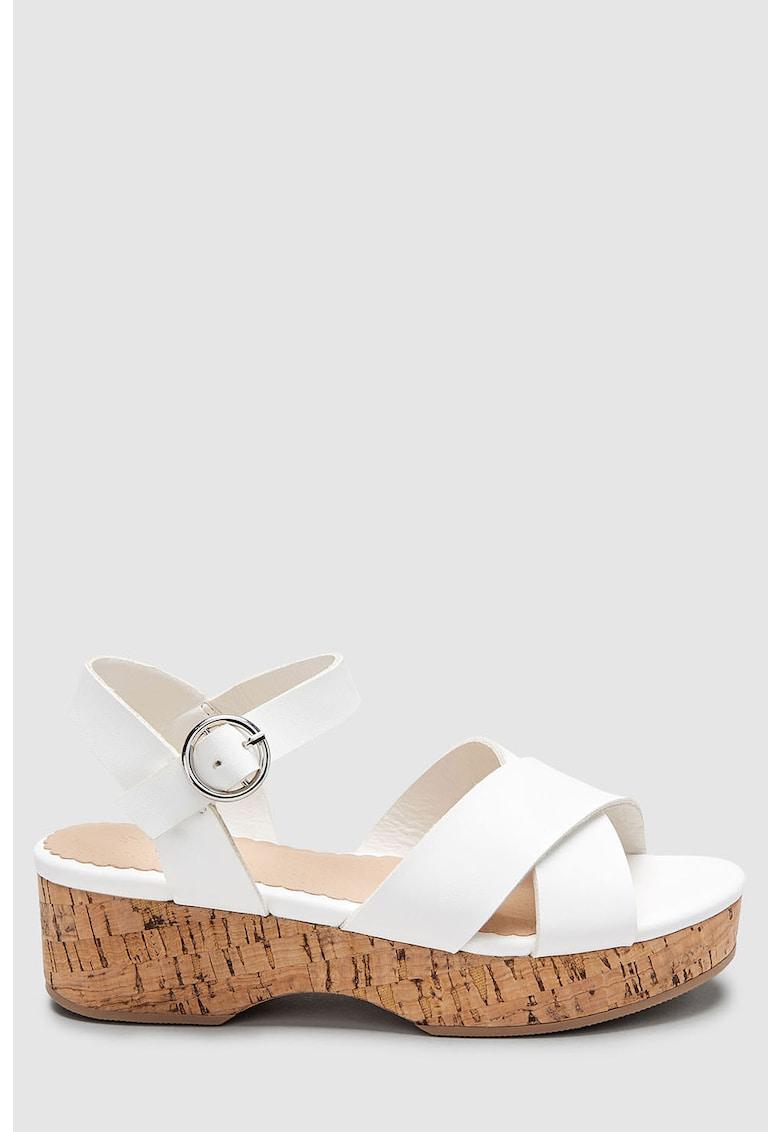 Sandale wedge de piele ecologica de la NEXT