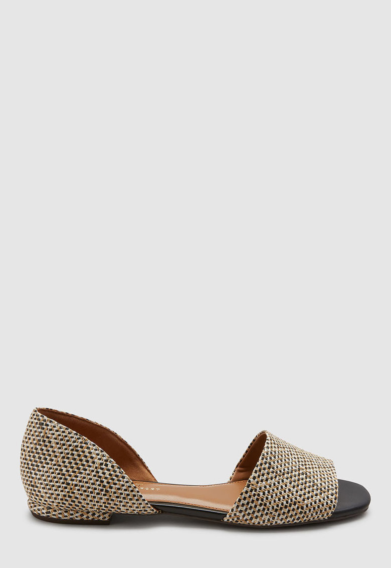 Sandale d'Orsay cu aspect tesut