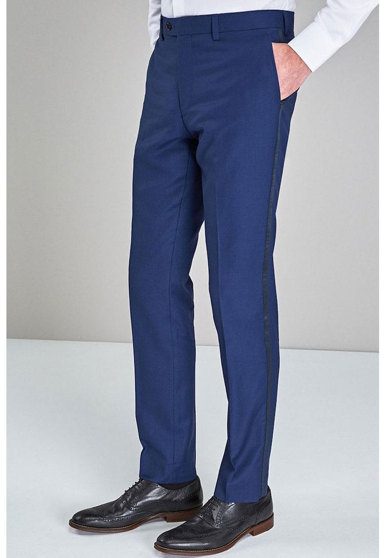 Pantaloni eleganti slim fit de lana NEXT