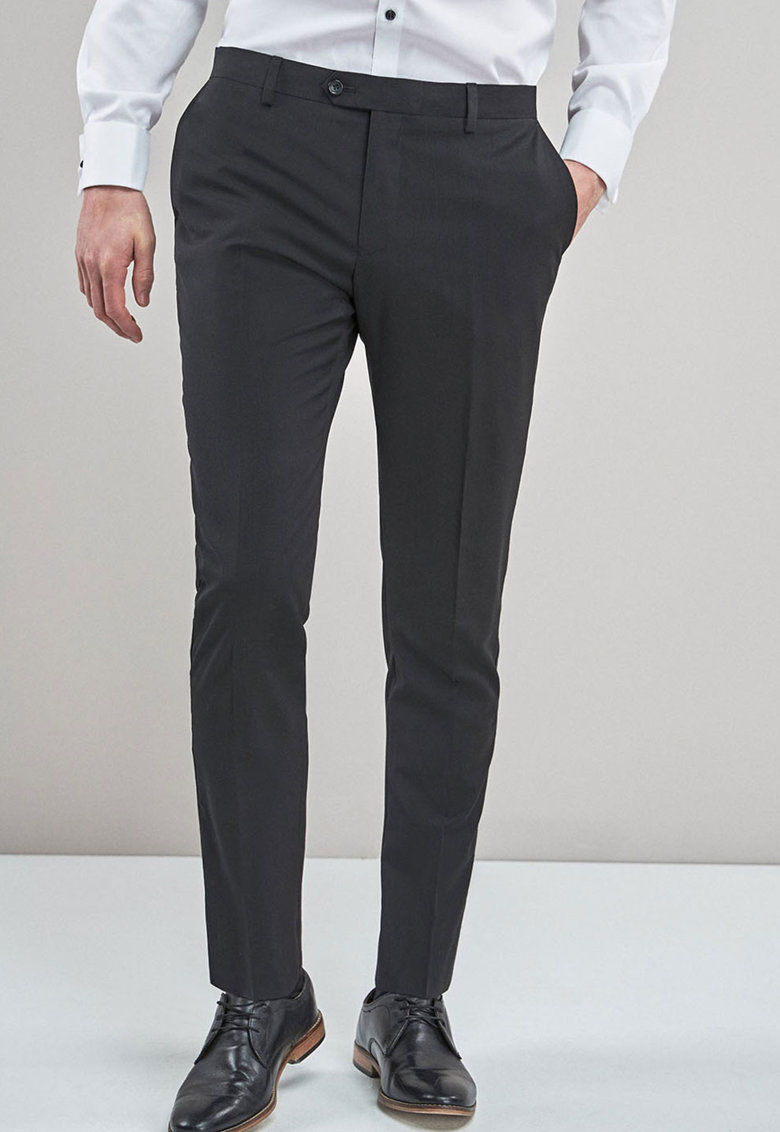 Pantaloni eleganti slim fit de lana