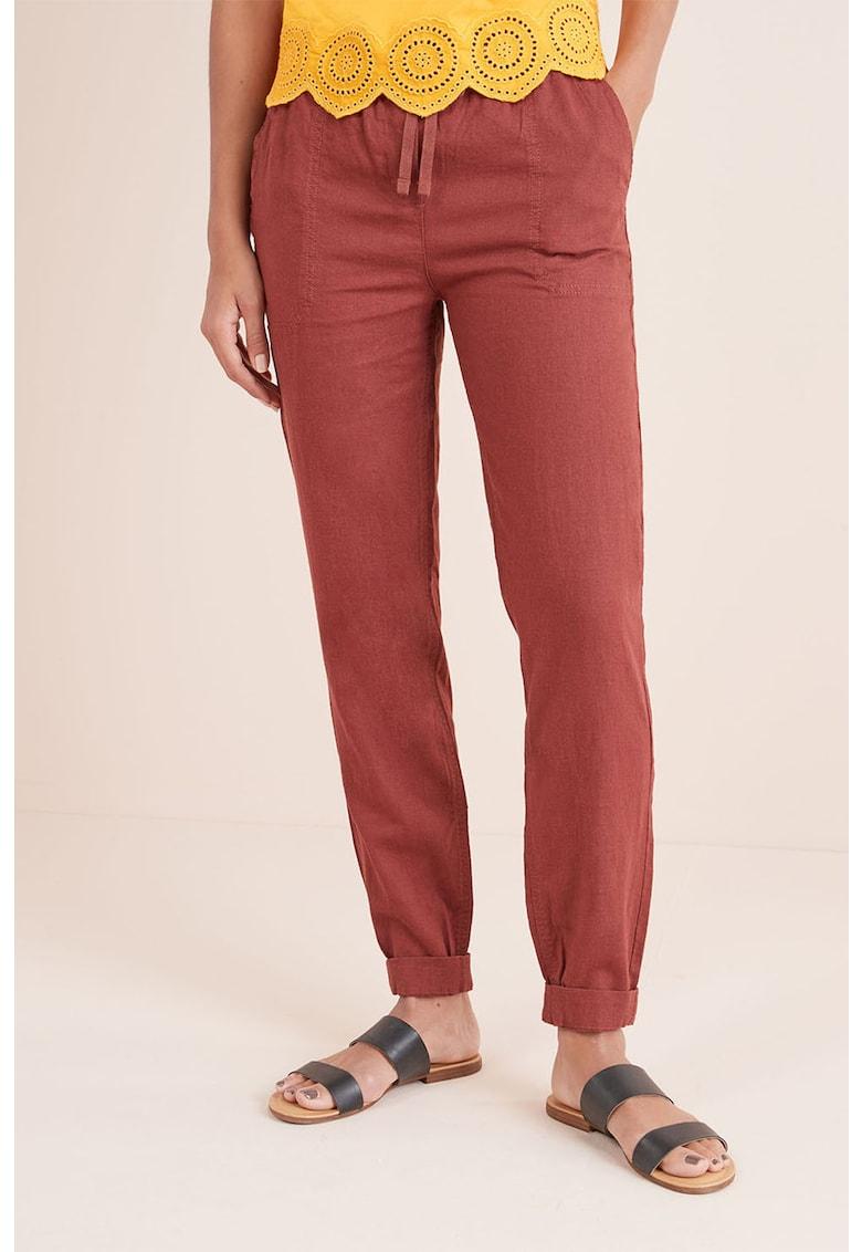 Pantaloni din amestec de in – cu croiala conica de la NEXT