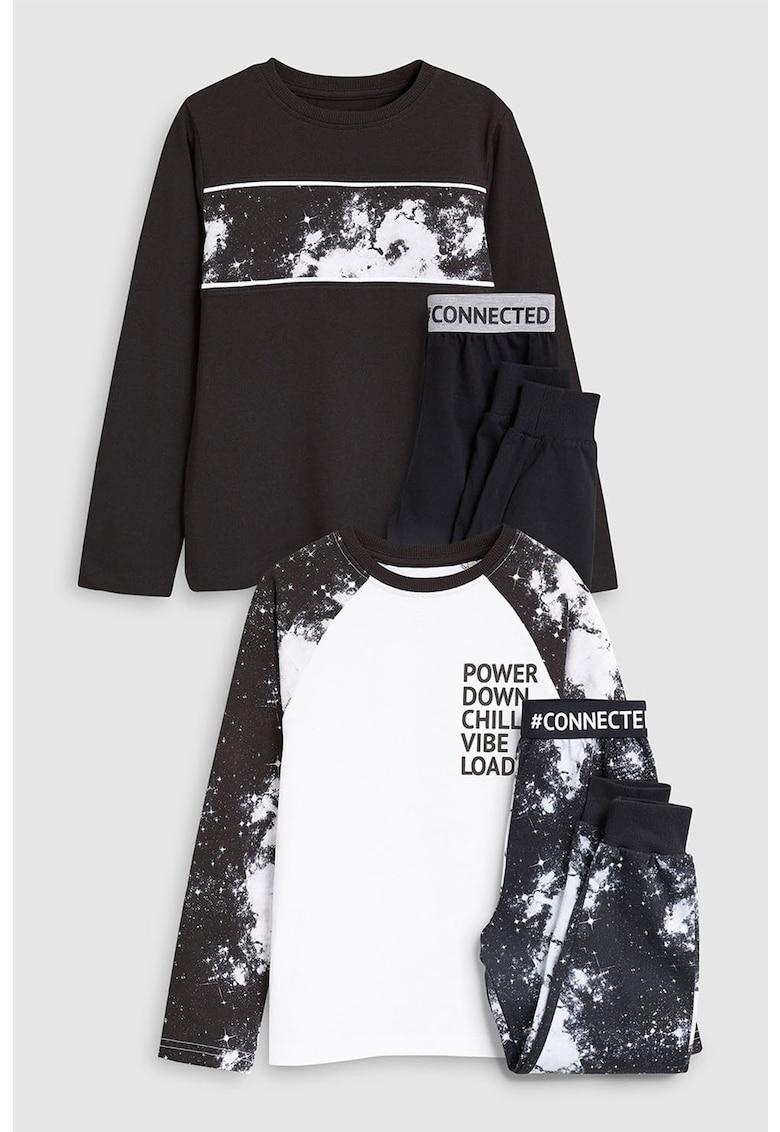 Set de pijamale cu pantaloni lungi - 2 perechi de la NEXT
