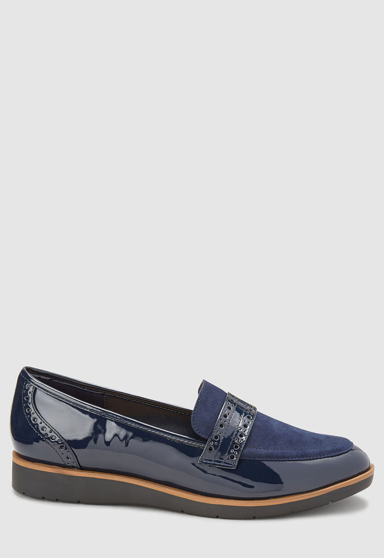 NEXT Pantofi loafer cu detalii lacuite