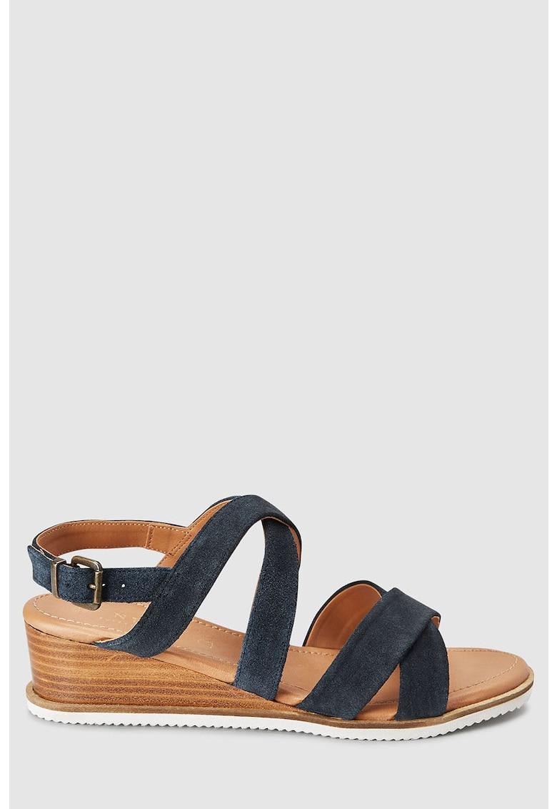 Sandale wedge de piele NEXT