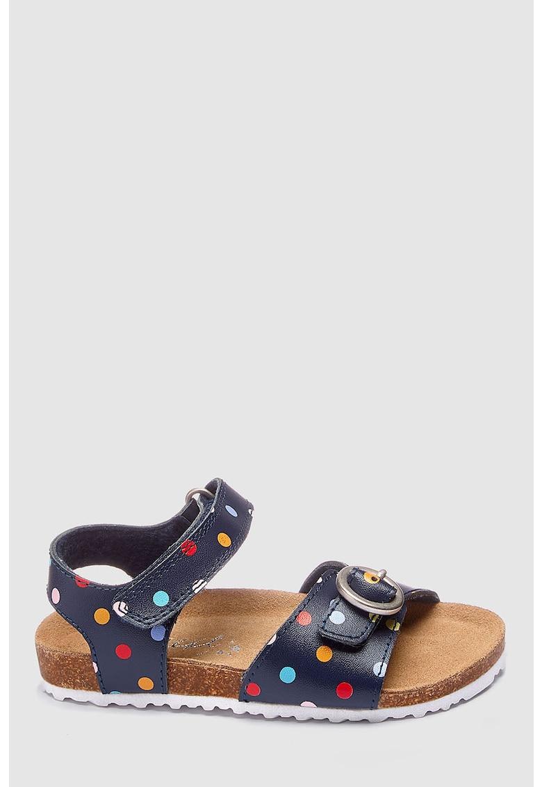 Sandale de piele cu model cu buline