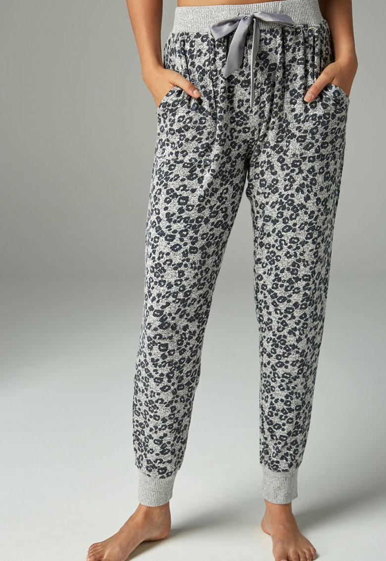 Pantaloni sport de casa cu imprimeu
