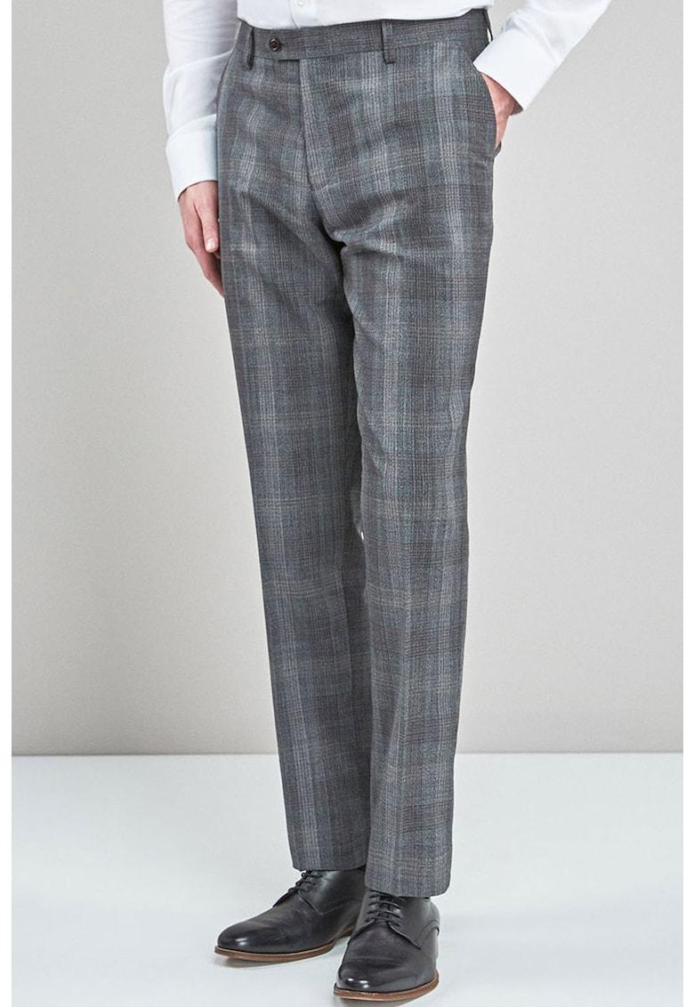 Pantaloni eleganti de lana – cu model in carouri de la NEXT
