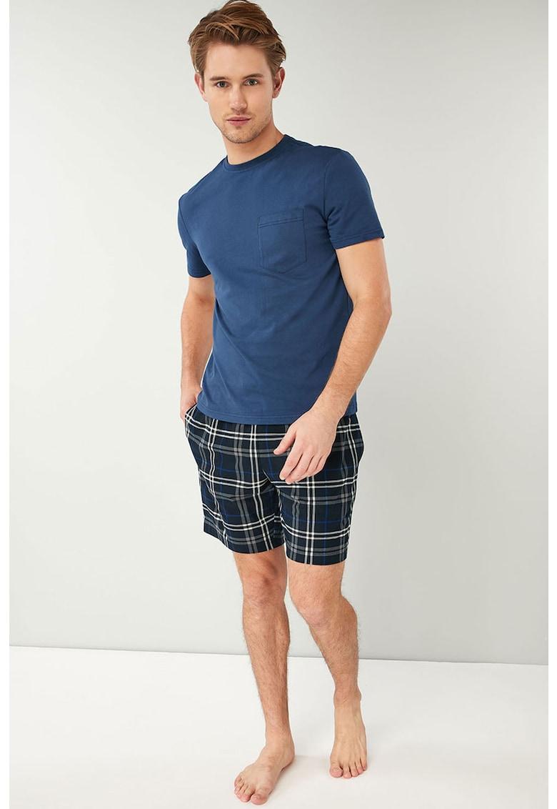 Pijama cu pantaloni cu model in carouri