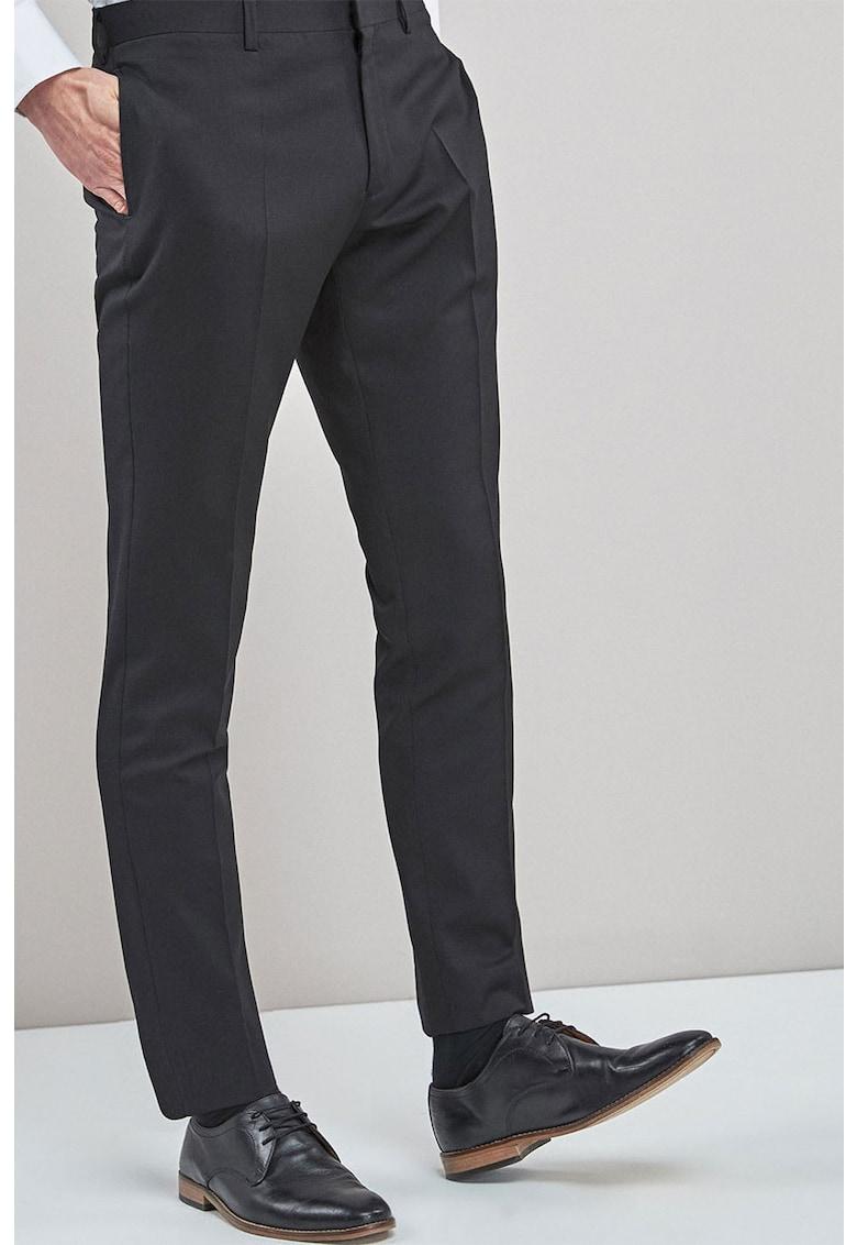 Pantaloni eleganti slim fit de lana Signature NEXT