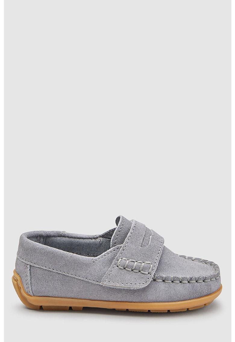 NEXT Pantofi loafer de piele intoarsa cu velcro