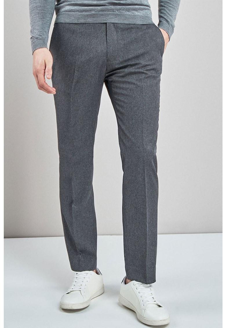 Pantaloni cu croiala dreapta si model houndstooth de la NEXT