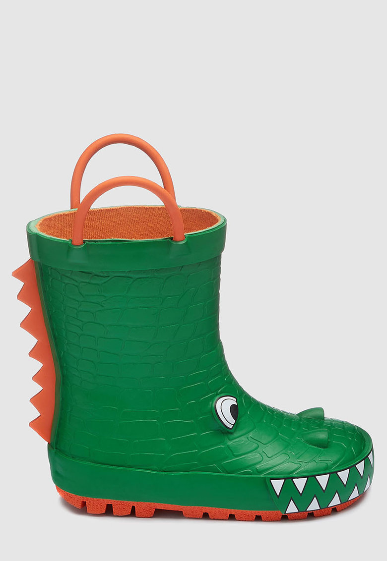 Cizme de ploaie cu model crocodil