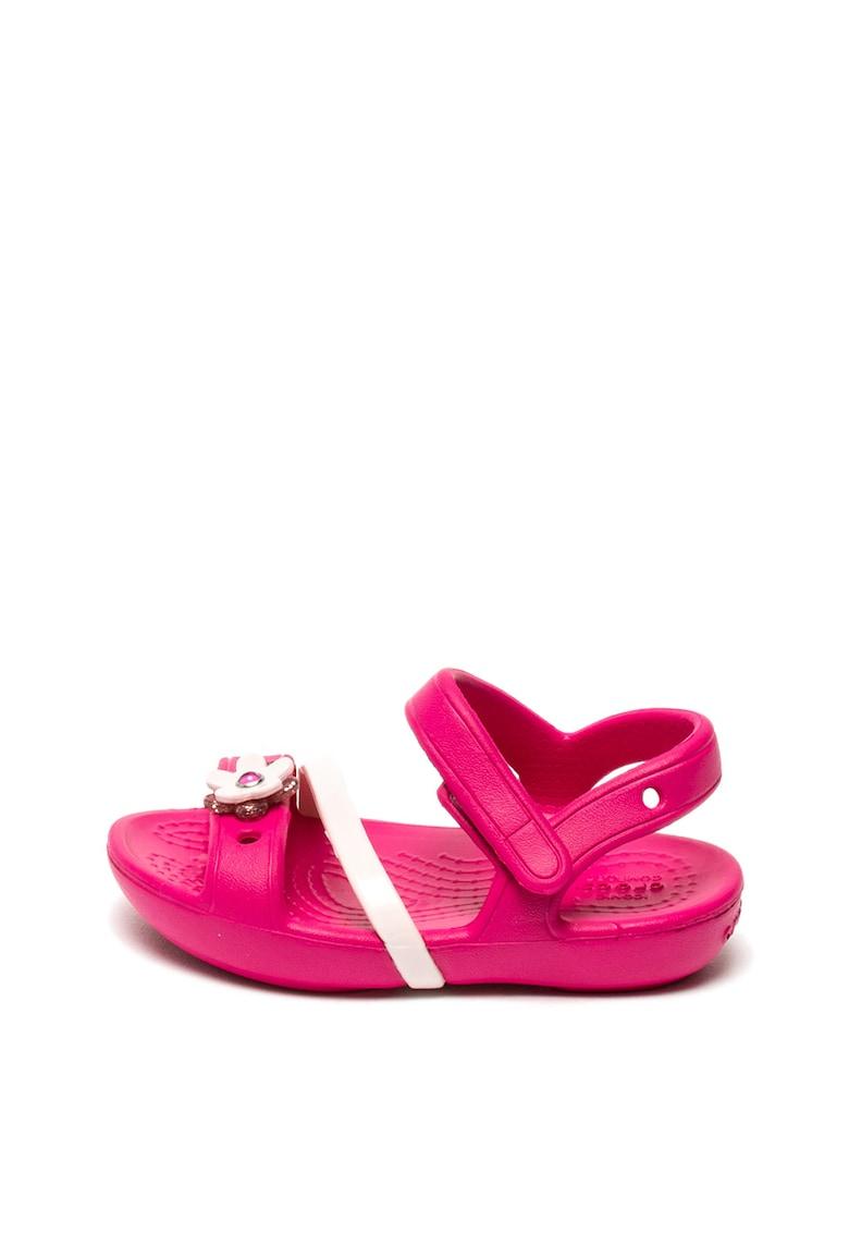 Sandale usoare de cauciuc cu strasuri Lina de la Crocs