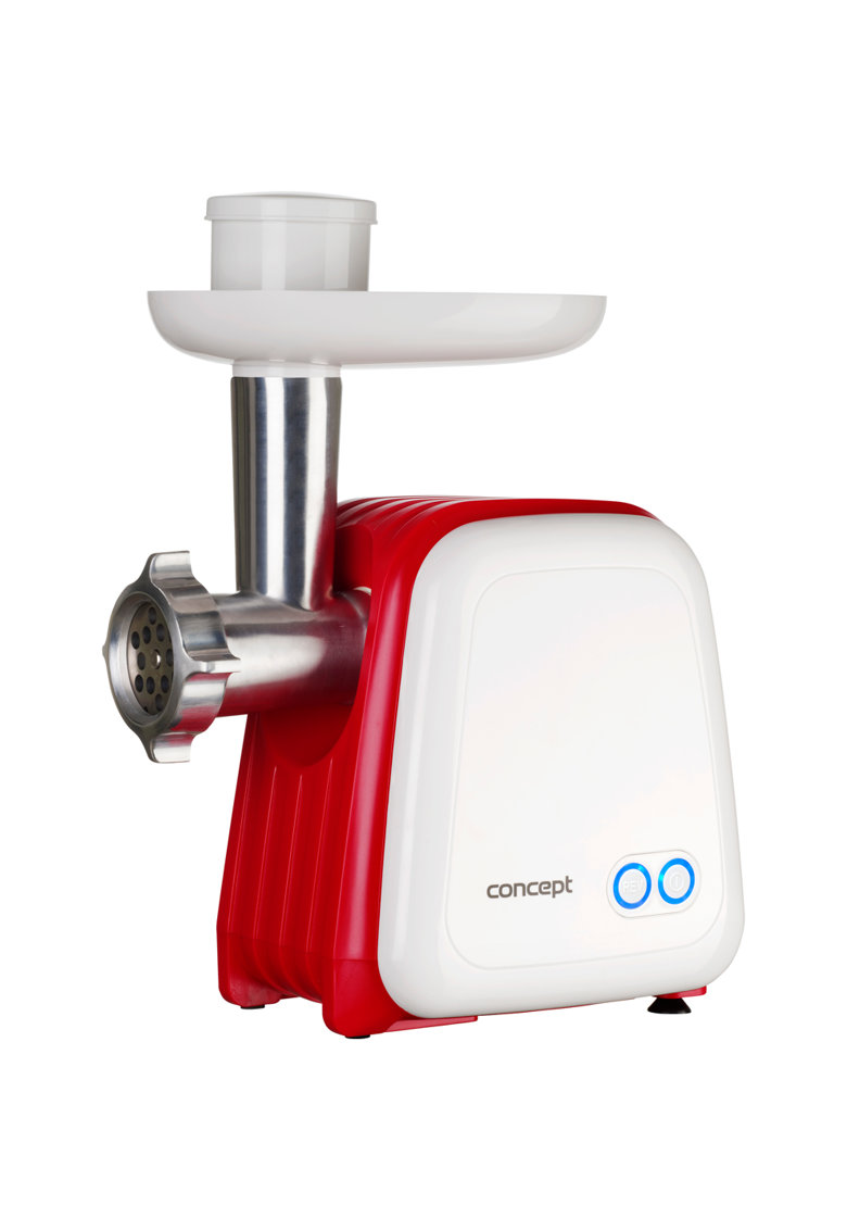 Masina de tocat carne - 1500 W - 2 site - accesoriu 3in1 pentru rosii - fructe proaspete si carnati - 1.2 kg /min - Alb/Rosu poza fashiondays