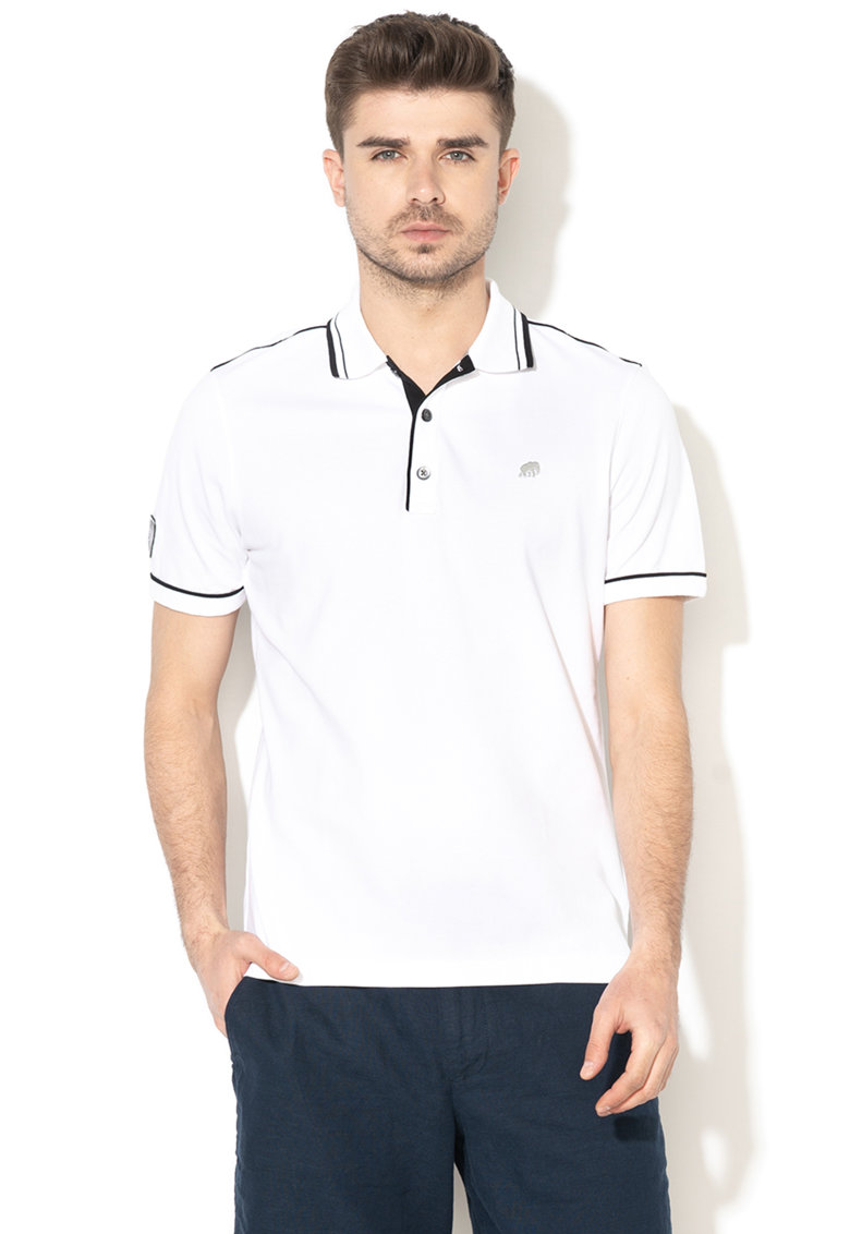 Tricou polo regular fit din pique 1