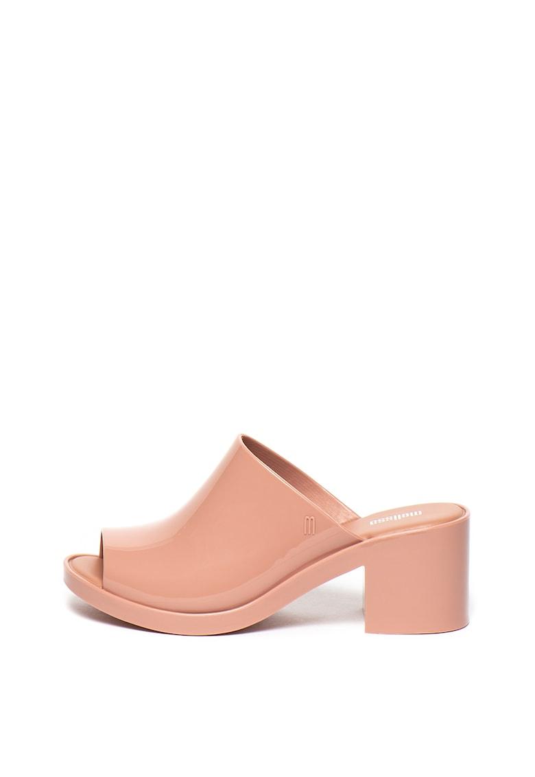 Papuci cu toc - de cauciuc