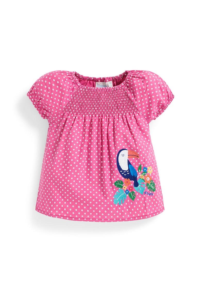 Bluza cu imprimeu cu buline imagine fashiondays.ro JoJo Maman Bebe